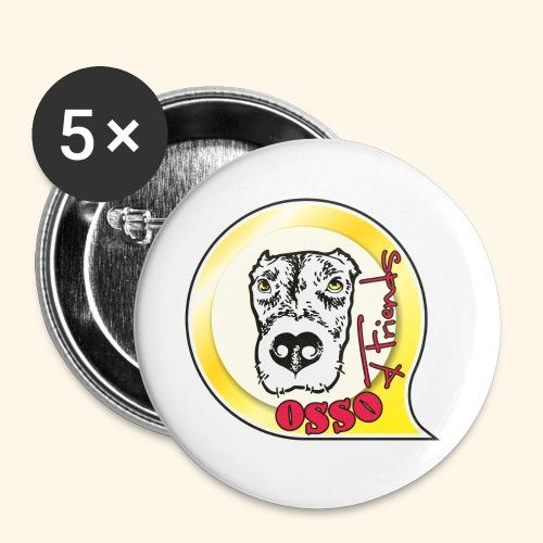 Osso4Friends official logo - Confezione da 5 spille piccole (25 mm)