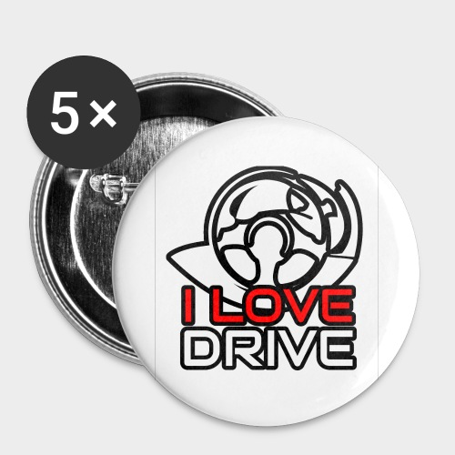 I Love Drive - Buttons small 1''/25 mm (5-pack)