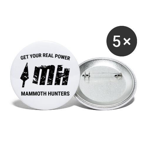 Mammoth Hunters / Negro - Paquete de 5 chapas pequeñas (25 mm)