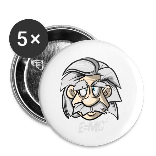 Albert Einstein E=MC2 - Buttons klein 25 mm