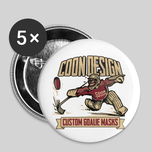 CoonDesign - Goalie - Buttons klein 25 mm (5er Pack)