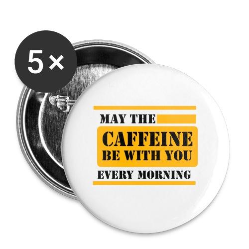caffeine Lustiges T-Shirt - Buttons klein 25 mm (5er Pack)