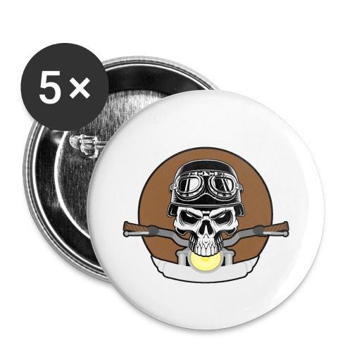 rider skull2 - Buttons klein 25 mm (5er Pack)