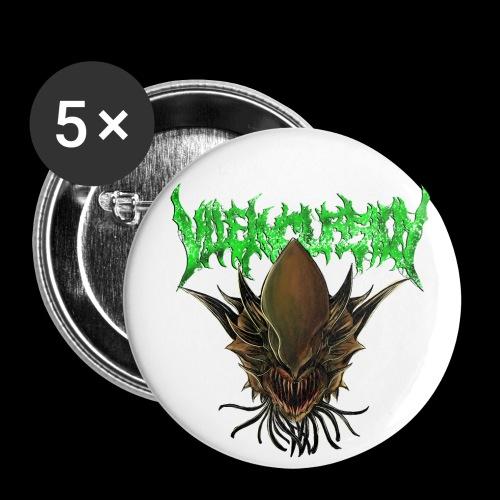 Alien head logo - Små knappar 25 mm (5-pack)