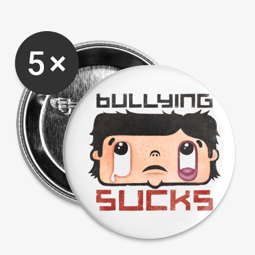 Bullying sucks - Rintamerkit pienet 25 mm (5kpl pakkauksessa)