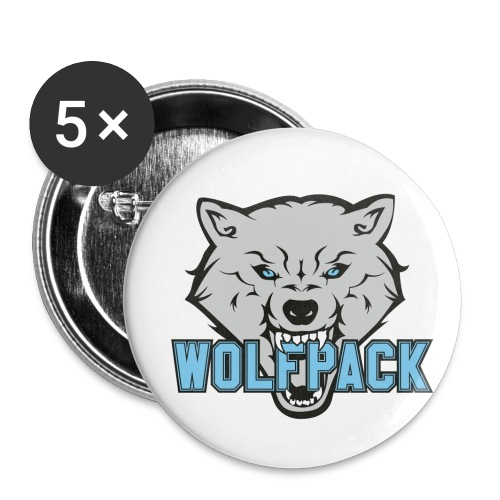 WOLFPACK CHEERLEADING - Buttons klein 25 mm (5er Pack)