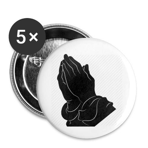Pray logo - Buttons klein 25 mm (5er Pack)