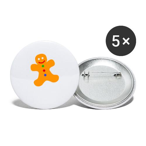 Gingerbread Man - Buttons small 1''/25 mm (5-pack)