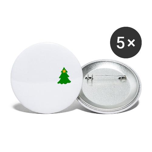 White Christmas - Buttons small 1''/25 mm (5-pack)