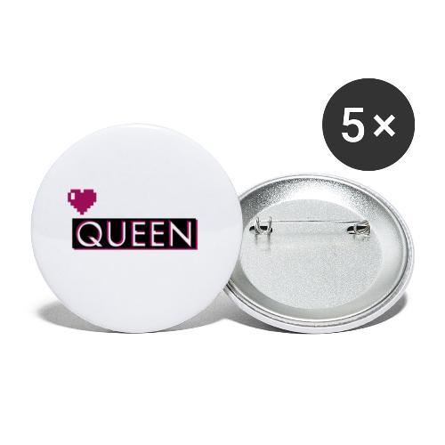 Queen, la regina - Confezione da 5 spille piccole (25 mm)
