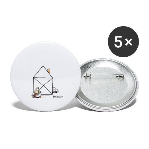 Stef 0003 00 Haus - Buttons klein 25 mm (5er Pack)