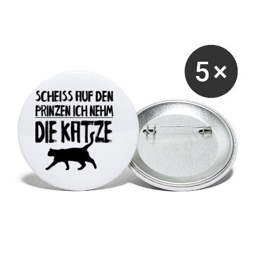 Katze Katzen Katzenliebhaber Geschenk Katzenliebe - Buttons klein 25 mm (5er Pack)