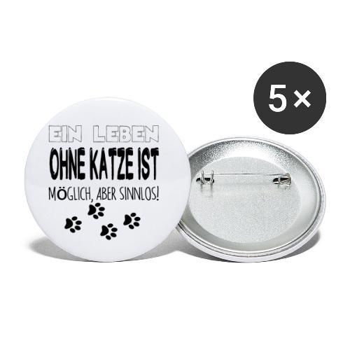 Katzen Katze Geschenk Katzenliebhaber Cat - Buttons klein 25 mm (5er Pack)