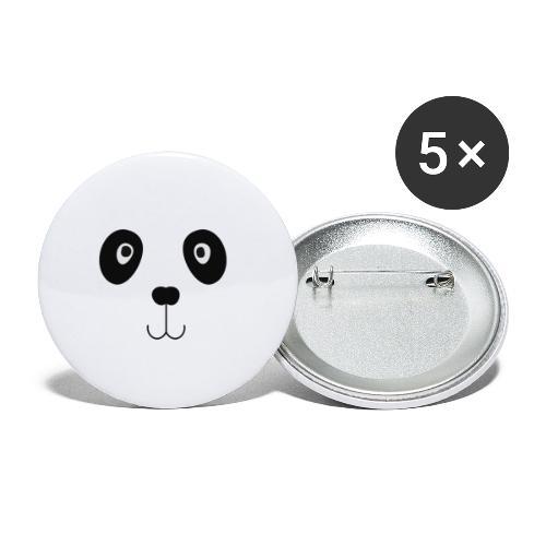 Panda ogen - Buttons klein 25 mm (5-pack)