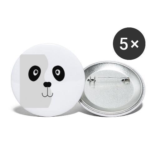 Panda in het grijs - Buttons klein 25 mm (5-pack)
