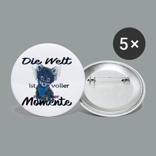Die Welt ist voller magischer Momente - Buttons klein 25 mm (5er Pack)