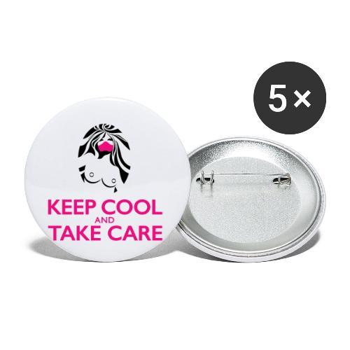 Keep cool - Lot de 5 petits badges (25 mm)