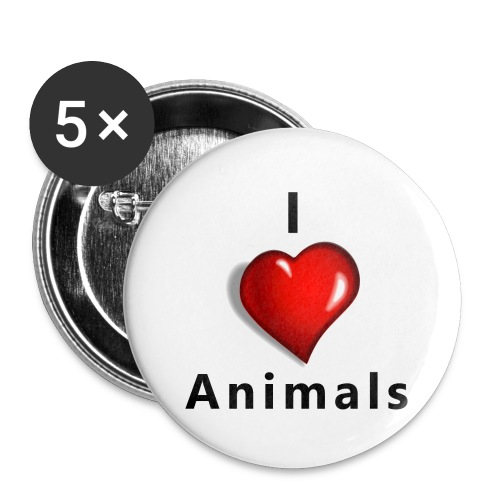 i love animals - Buttons klein 25 mm (5-pack)
