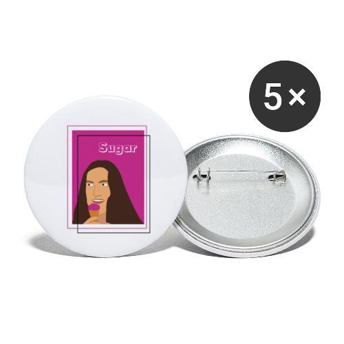 SUGAR - Paquete de 5 chapas pequeñas (25 mm)