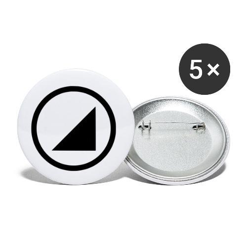 bulgebull marca oscura - Paquete de 5 chapas pequeñas (25 mm)