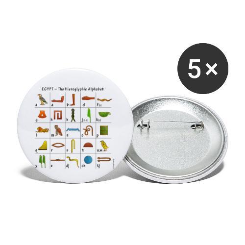 Ägyptisches Alphabet - Buttons klein 25 mm (5er Pack)