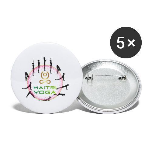 SunSalutation MaitriYoga - Lot de 5 petits badges (25 mm)