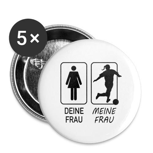 Fußball-Frauen - Buttons klein 25 mm (5er Pack)