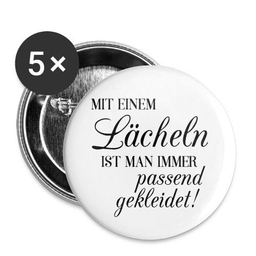 Mit einem Lächeln ist man immer passend gekleidet - Buttons klein 25 mm (5er Pack)