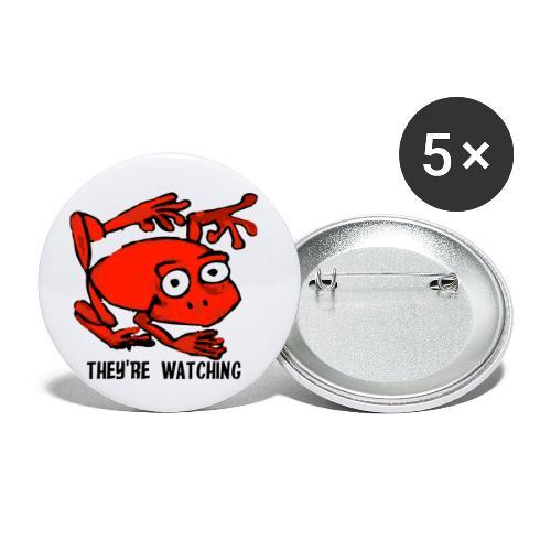 red frog - Confezione da 5 spille piccole (25 mm)