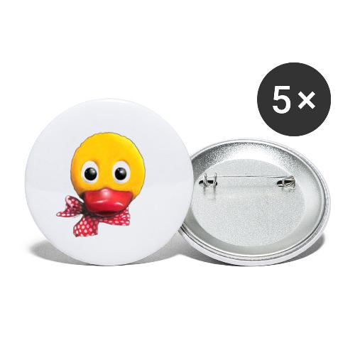 Schnatterinchen 3D - Buttons klein 25 mm (5er Pack)