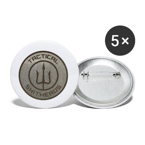 Tactical Shitheads - Buttons klein 25 mm (5er Pack)