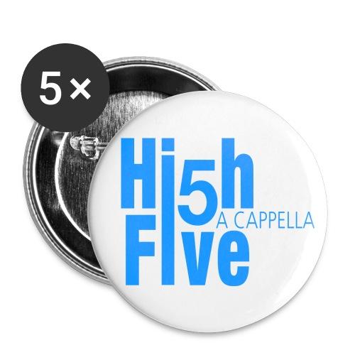 logo mittel blau hoch - Buttons klein 25 mm (5er Pack)