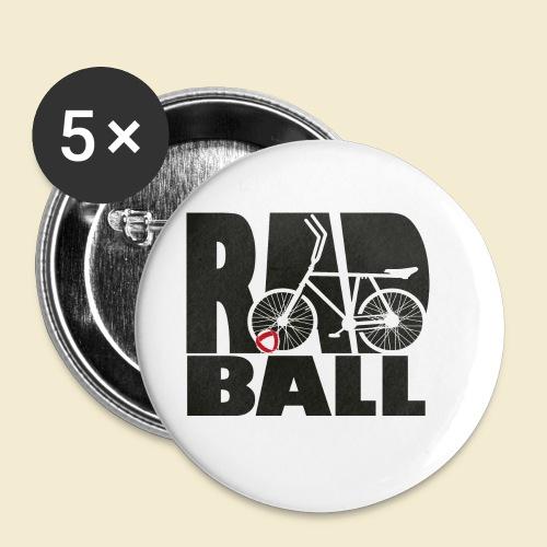 Radball | Typo Black - Buttons klein 25 mm