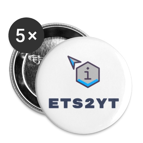 Ets2YT - Buttons small 1''/25 mm (5-pack)