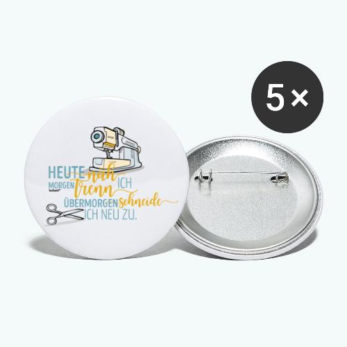 Nähen Schneidern Frauen Spruch Handarbeit - Buttons klein 25 mm (5er Pack)