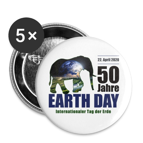 50 Jahre EARTH DAY - Buttons klein 25 mm (5er Pack)
