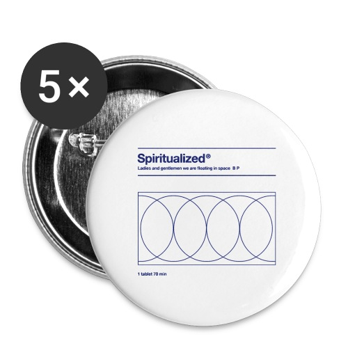 SPIRITUALIZED LOGO - Buttons klein 25 mm (5-pack)