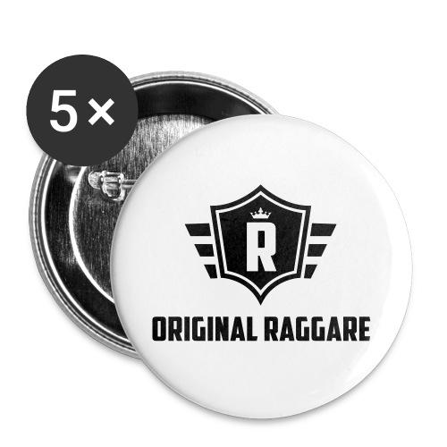 Original raggare t-shirt. - Små knappar 25 mm (5-pack)