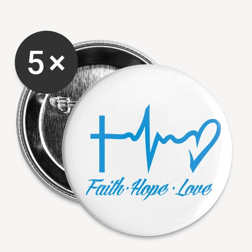 FAITH HOPE LOVE - Buttons small 1''/25 mm (5-pack)