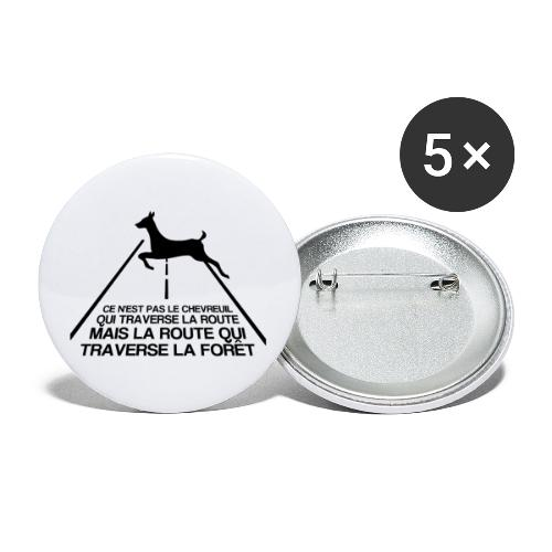 Chevreuil - Lot de 5 petits badges (25 mm)