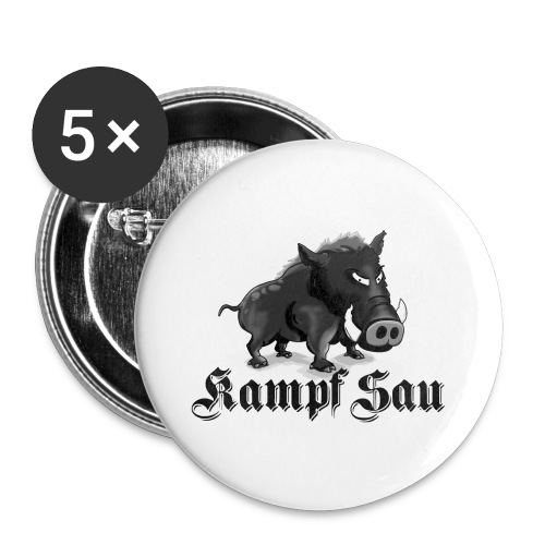 Kampfsau - Buttons klein 25 mm (5er Pack)