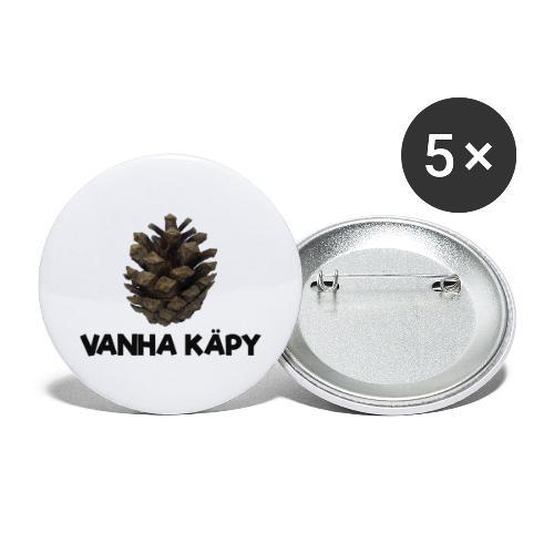 Vanha käpy - Rintamerkit pienet 25 mm (5kpl pakkauksessa)