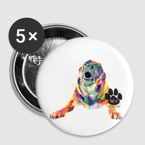 Mad About You - Buttons small 1''/25 mm (5-pack)