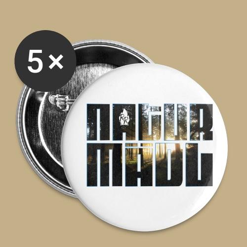 Naturmädl Wood - Buttons klein 25 mm (5er Pack)