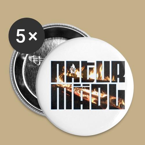 Naturmädl Fire - Buttons klein 25 mm (5er Pack)
