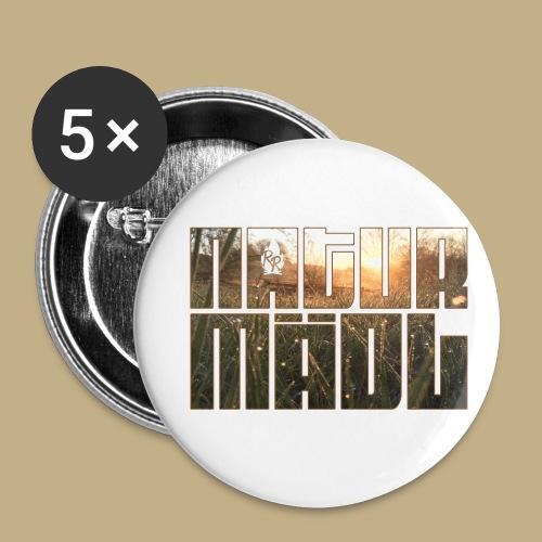 Naturmädl Field - Buttons klein 25 mm (5er Pack)