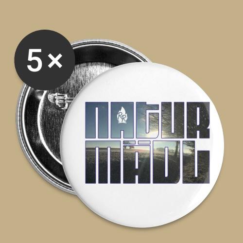 Naturmädl Ice - Buttons klein 25 mm (5er Pack)