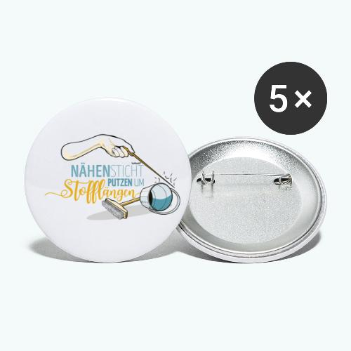 Nähen Putzen Frauen Spruch Handarbeit - Buttons klein 25 mm (5er Pack)