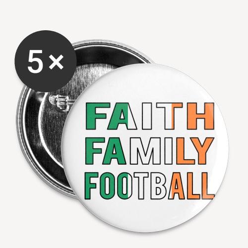 FAITH FAMILY FOOTBALL - Buttons small 1''/25 mm (5-pack)