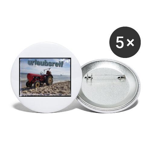 urlaubsreif - Buttons klein 25 mm (5er Pack)